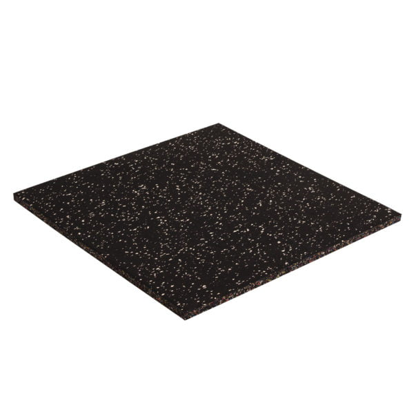 15mm Floor Tile 500mm x 500mm x1 - Black with White Speckle