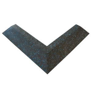 30mm Floor Tile Corner (x1) (550mm length x 150mm Wide) - Black with Blue Speckle