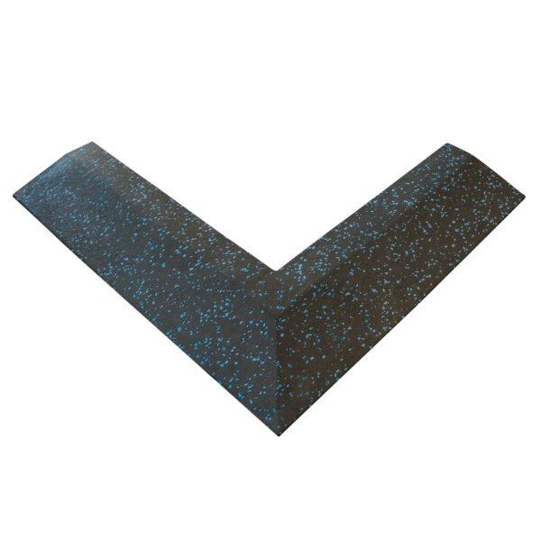 30mm Floor Tile Corner (x1) (550mm length x 150mm Wide) - Black with Blue Speckle