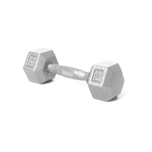 5kg Hex Cast Iron Dumbbell (x1)