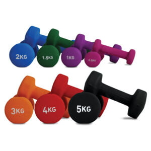 Neoprene Coated Dumbbells 0.5kg Pink