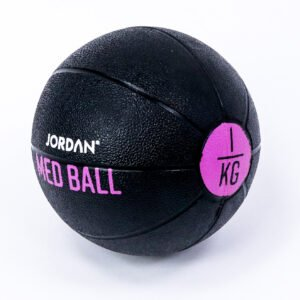 1kg Medicine Ball - Black/Pink