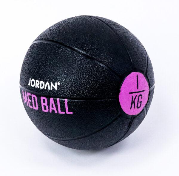1kg Medicine Ball - Black/Pink
