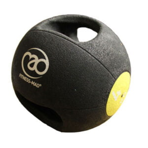 4kg Double Grip Medicine Ball - Yellow
