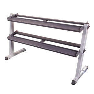 62 Inch Wide 2 Tier Dumbbell Rack