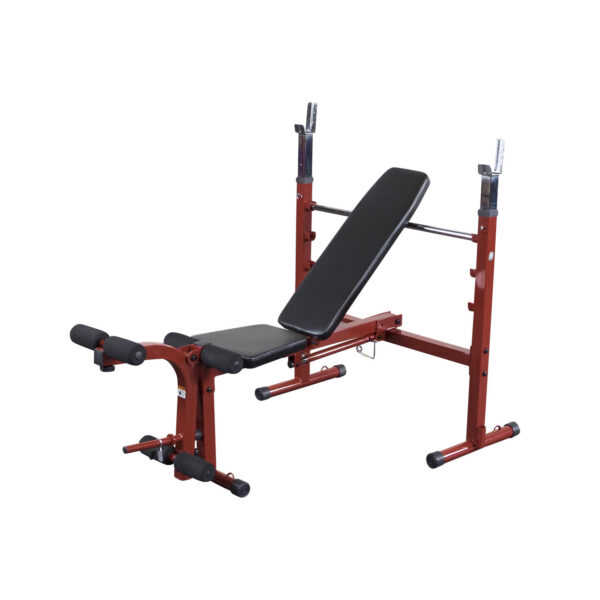 Folding Olympic Bench with Leg Developer -RED