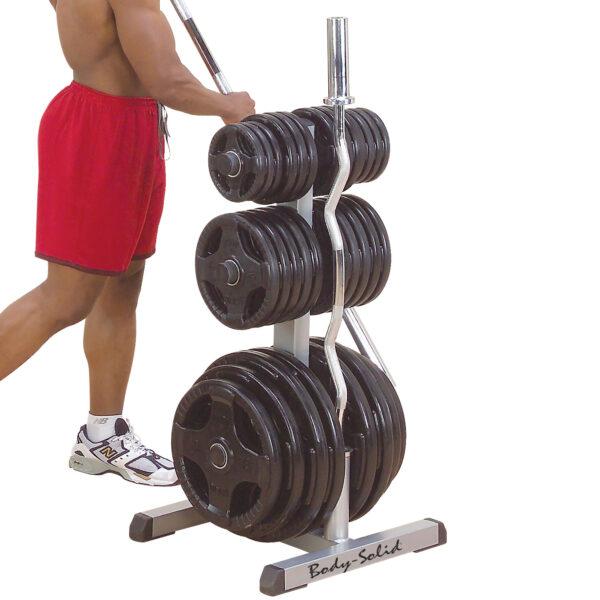 Olympic Weight Tree & Bar Rack