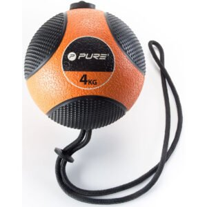 Pure2Improve Medicine Ball with Rope (4kg) Weights